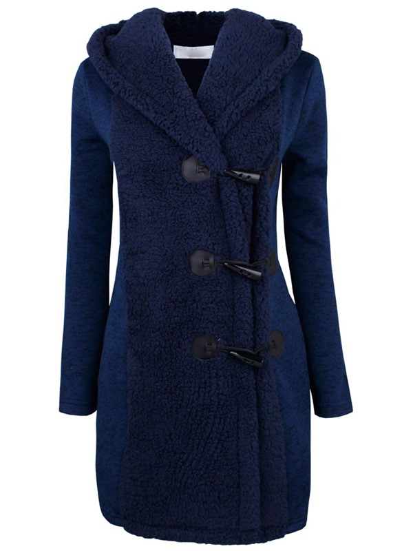 Chic Oxhorn Button Slim Overcoat
