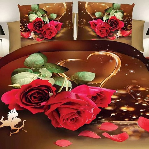 Love Rose Image 4 Piece Bedding Sets (Free Shipping)