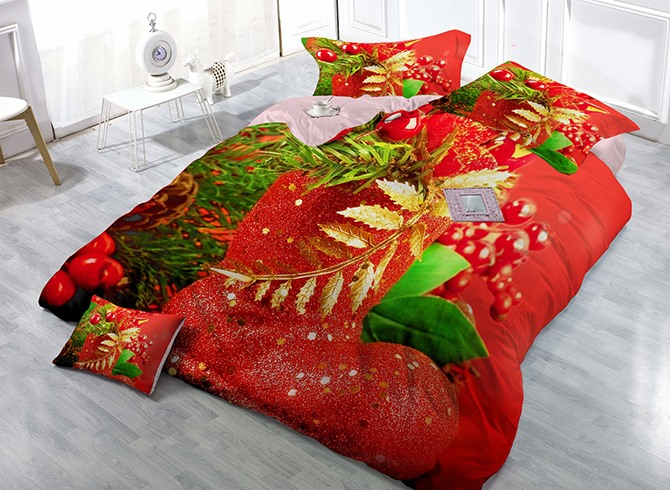 Merry Christmas Decoration 4 Piece Bedding Sets