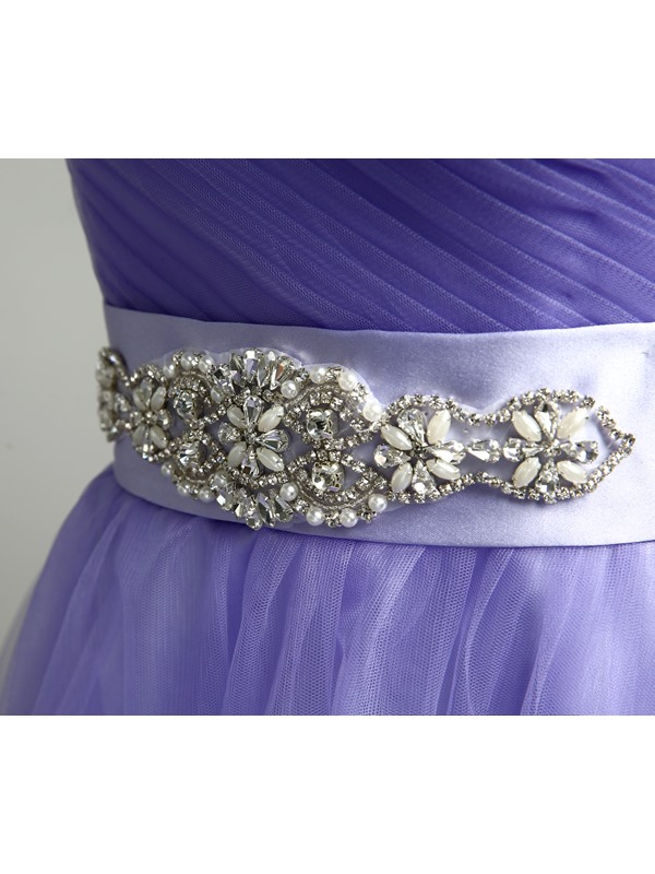 Pretty Sweetheart Beaded Waist A-Line Lace-up Homecoming Dress