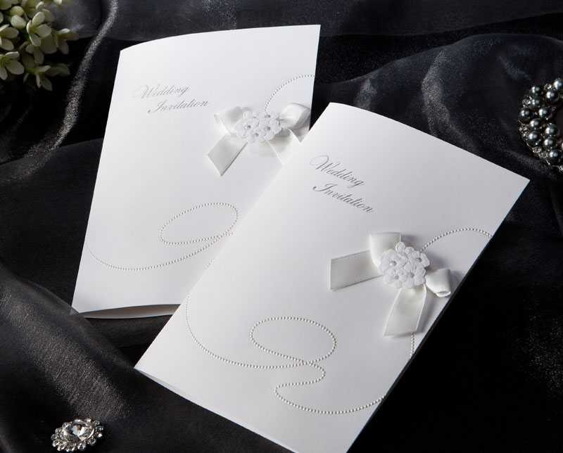 Cheap Free Printable White Wedding Invitations (20 Pieces One Set)