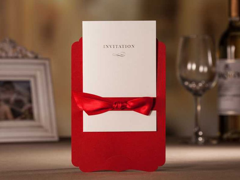 Elegant Wedding Invitations Cheap for Sale (20 Pieces One Set)