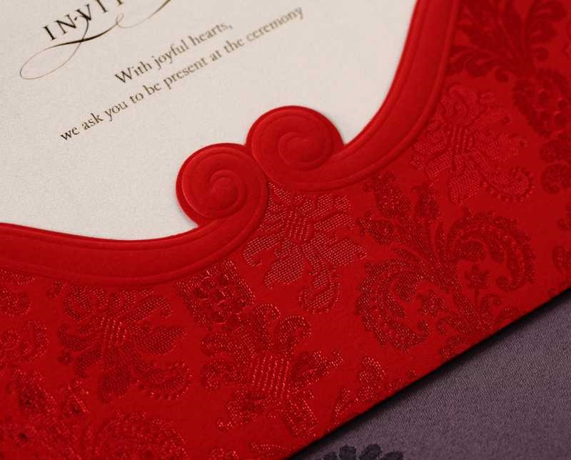 Classic Invitation Card Wedding Cheap (20 Pieces One Set)