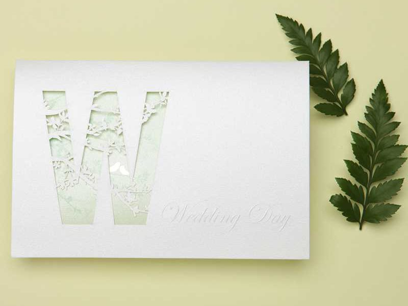 Cheap Simple Wedding Invitation Cards (20 Pieces One Set)