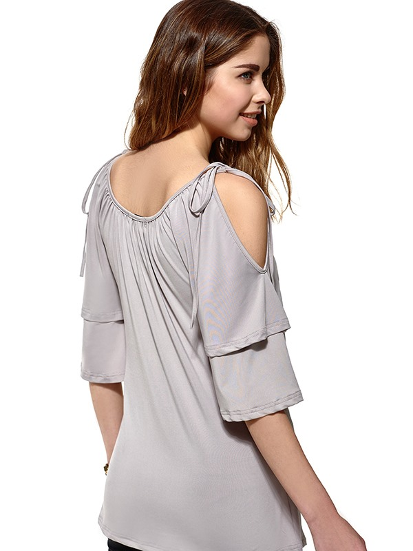 Stylish Ruffle Half Sleeves T-Shirt