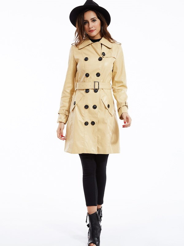 Splendid England Style PU Trench Coat