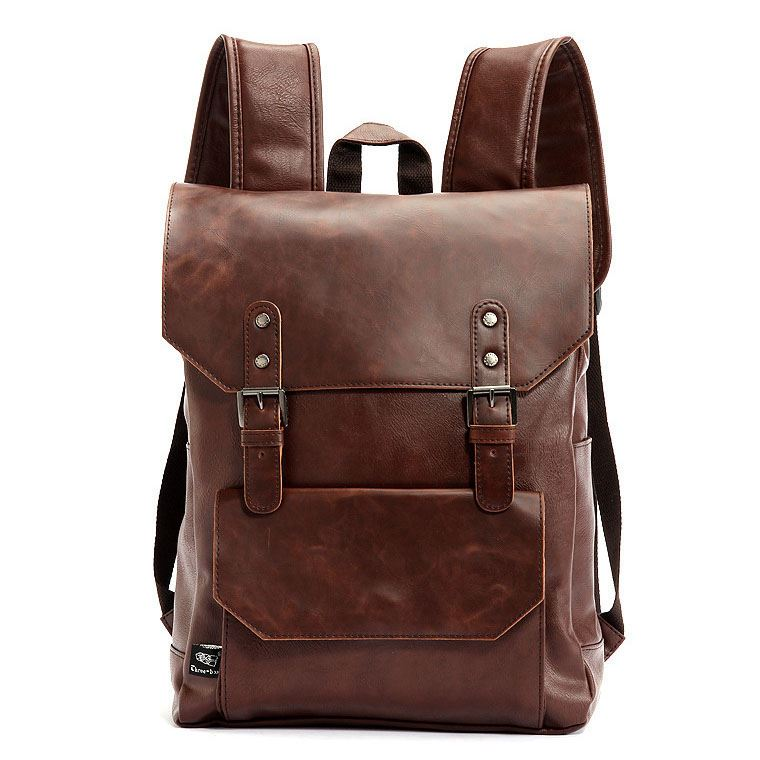 Solid Vintage Style Women Backpack
