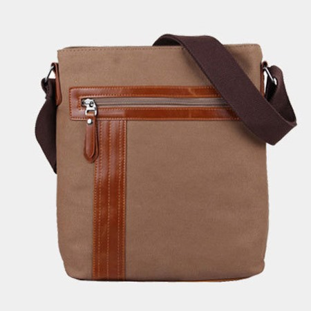Casual Solid Zipper Men Shoulder Bag