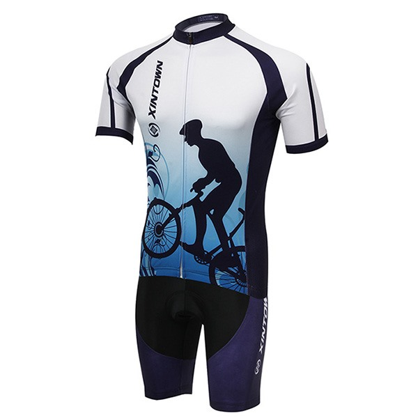 Polyester Short-Sleeve Printed Cycling Outfit