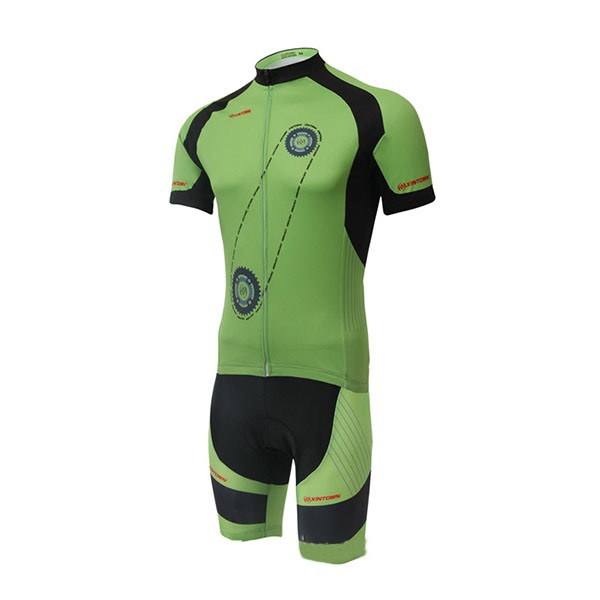 Gear-Print Short-Sleeve Bike Jersey And Shorts