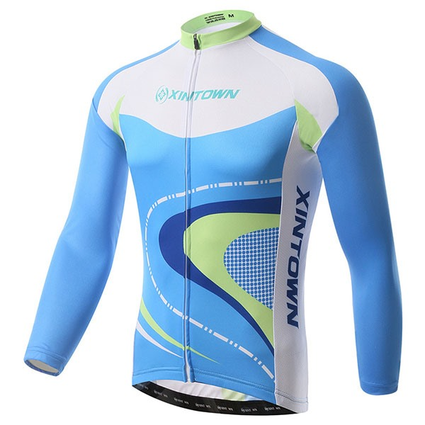 Blue Polyester Men's Cycle Jersey