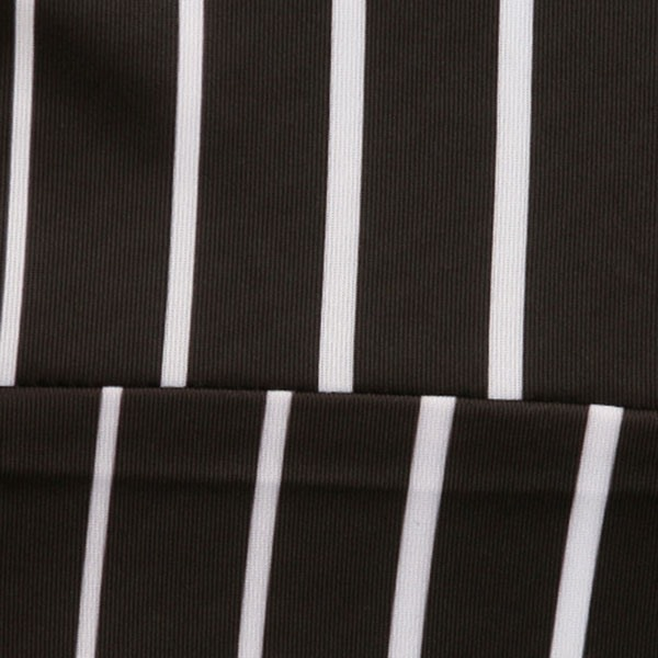 Striped Crew-Neck Men's Short-Sleeve Cycle Jersey