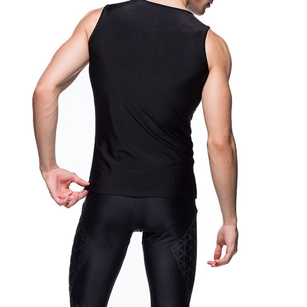 Black Sleeveless Men's Sportswear Running Tank
