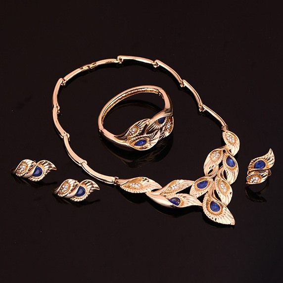 Hollow Beautiful Rhinestones Jewelry Set for Women