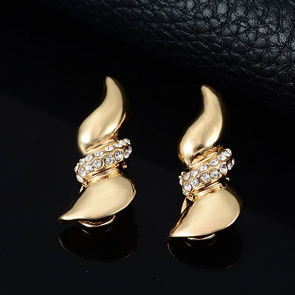 Beautiful E-plating Rhinestones Women Jewelry Set