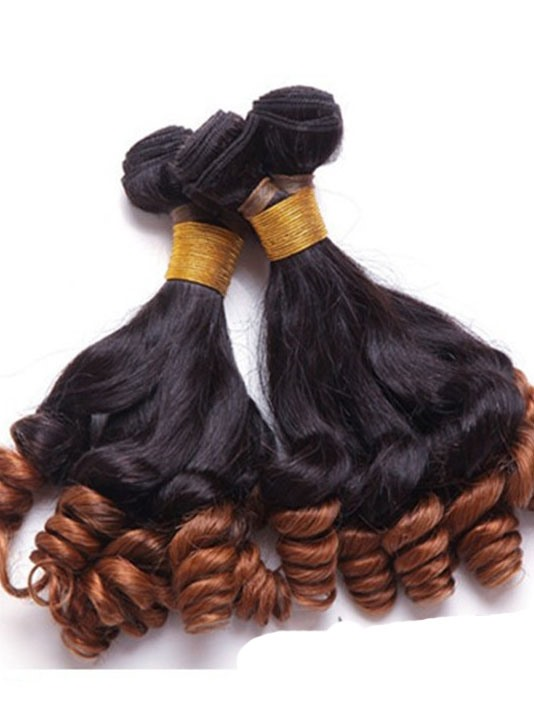 Human Hair Curly Weave 3 PCS 14 Inches(Free Shipping)