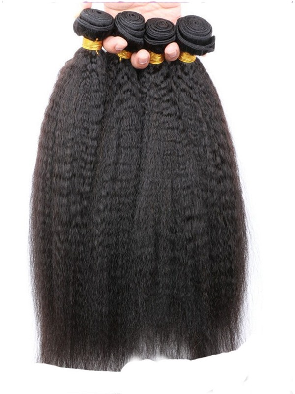 Yaki Straight Natural Black Human Hair Weave 1 PC(Free Shipping)