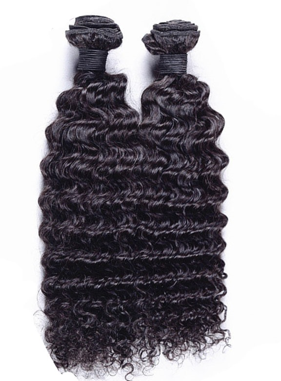 Deep Wave Black Human Hair Weave 1 PC(Free Shipping)
