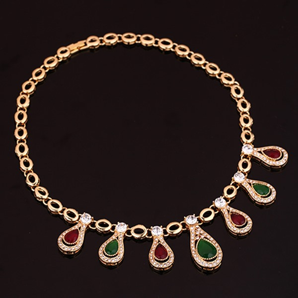 Stylish Rhinestones Hollow Women Jewelry Set