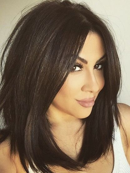 Meidum Straight Lace Front Synthetic Hair Wig 16 Inches(Free Shipping)