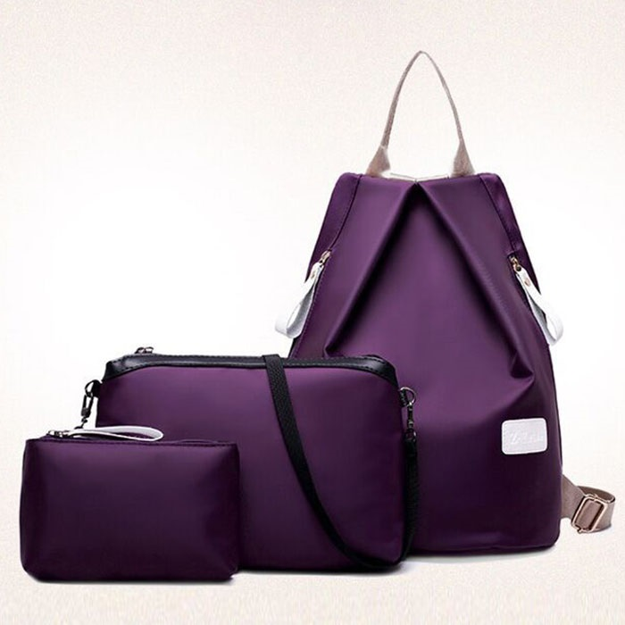 Solid Oxford Women Bag Set