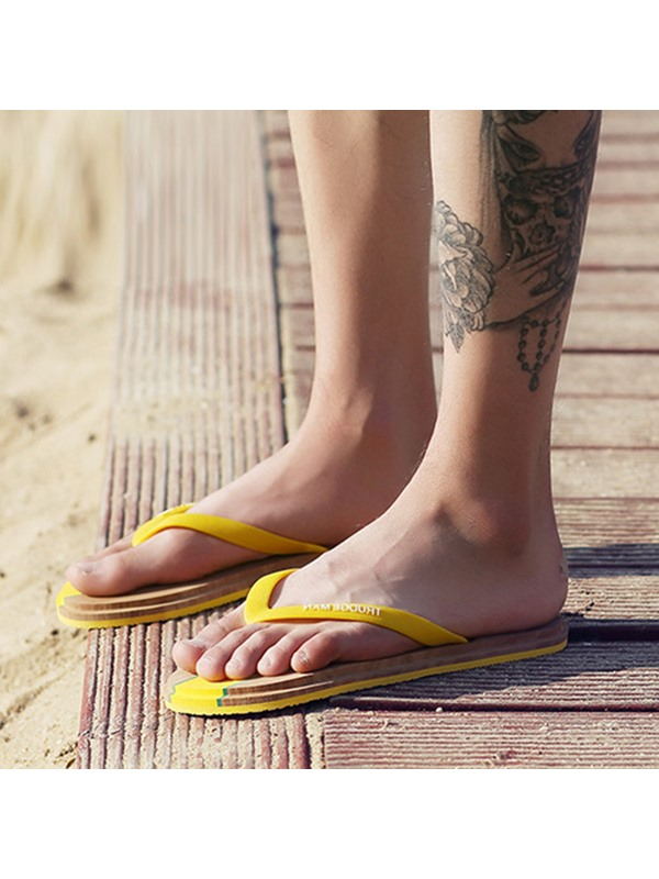 Letters Printed Thong Beach Sandals