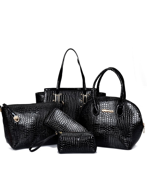 Stylish Pattern Printed Women's Bag Set ( Six Bags )