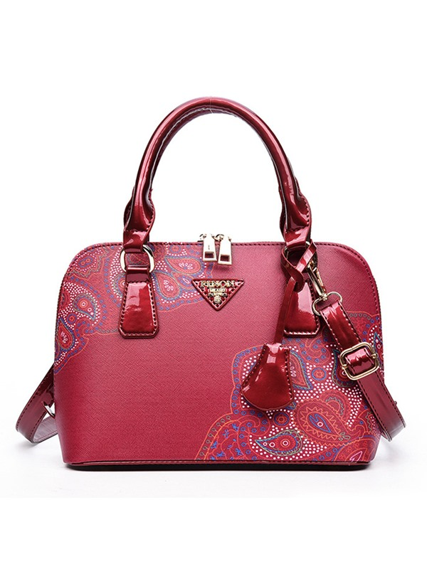 Graceful Floral Printed Women's Handbag