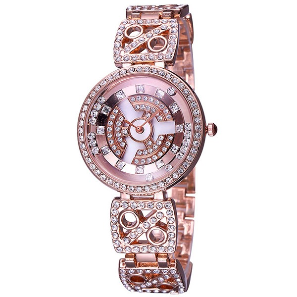 Trendy Diamante Round Analog Women Watch