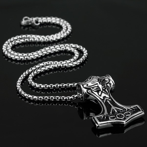 Personality Thor's Hammer Men's Pendant Necklace