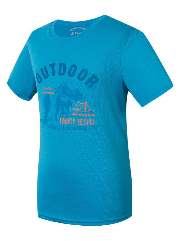 Polyester Graphic Print Men's Outdoor T-shirt