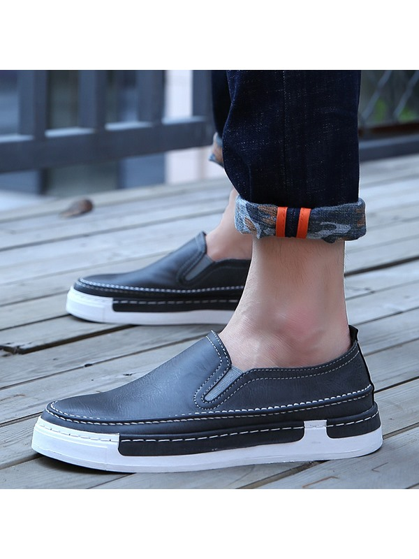 British Style PU Thread Casual Shoes
