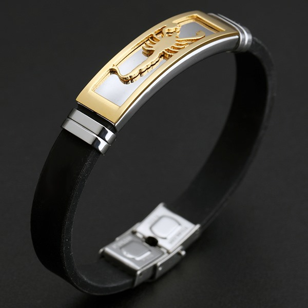 Gold Scorpion PU Men's Bracelet