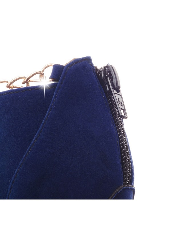 Suede Round Toe Zippered Booties