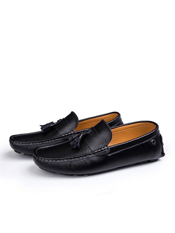 Solid Round Toe Breathable Casual Men's Shoes