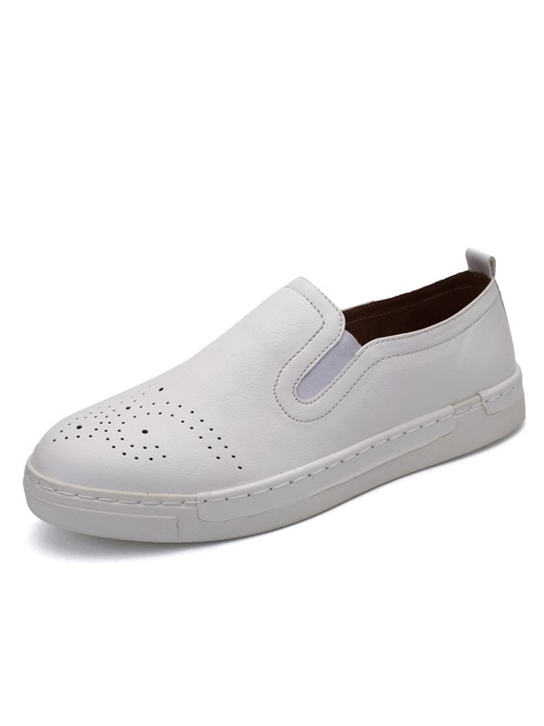 Breathable PU Slip-On Skater Shoes