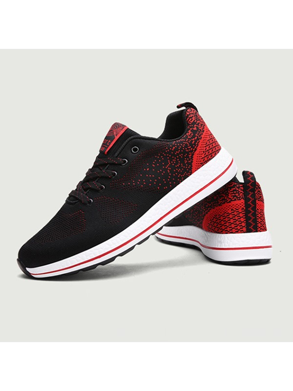 Breathable Soft Lace-Up Men's Running Shoes