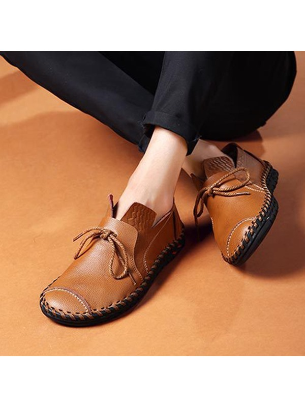 Embossed PU Thread Casual Shoes