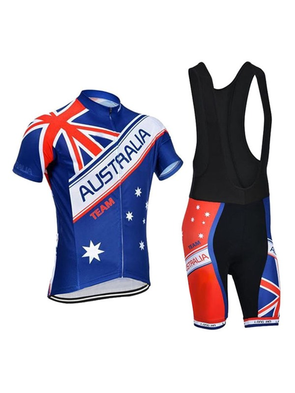 Polyester Australia Fla Men's Cycle Jersey And Bib Shorts