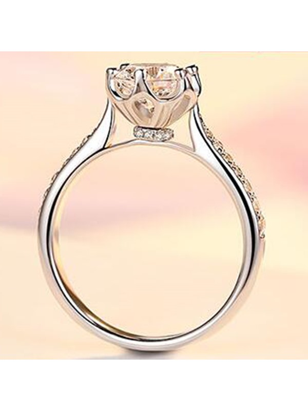 Concise Zircon High Quality Wedding Ring