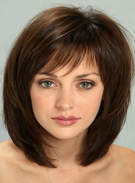 Sweet Shaggy Bob Medium Straight Synthetic Hair Capless Wig 14 Inches(Free Shipping)