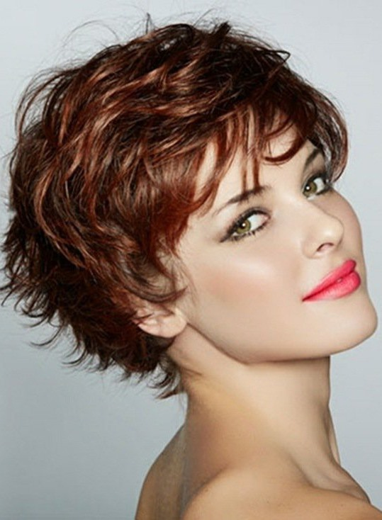 Graceful Short Feathered Pixie Haircut with Wispy Bangs Synthetic Hair Capless (Free Shipping)