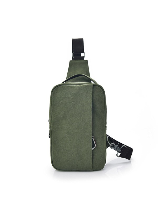 Simple Canvas Men's Chest Bag