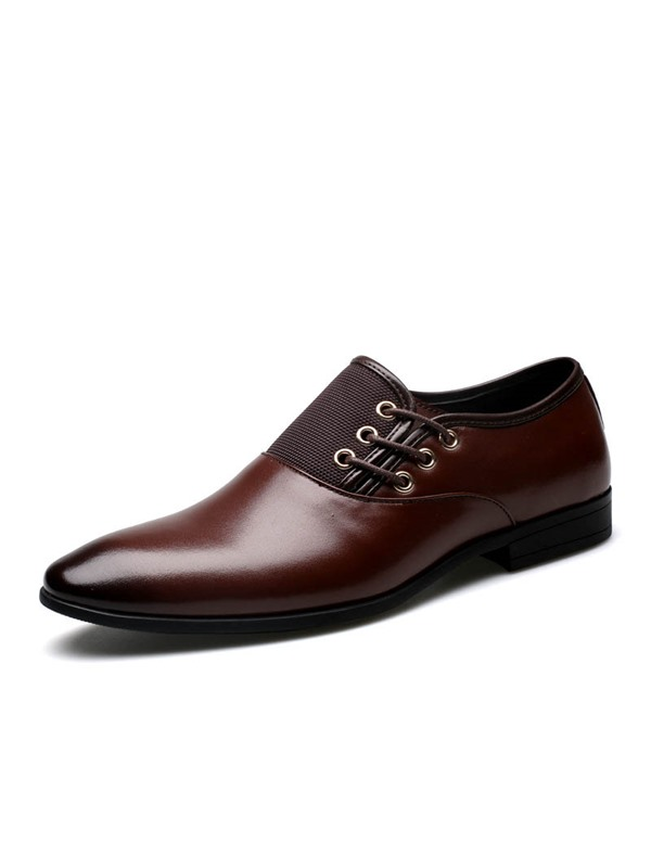 Gradient Color Slip-On Men's Dress Shoes