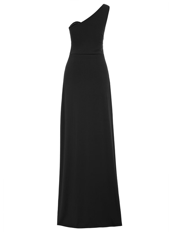 Cheap One Shoulder Split-Front Long Evening Dress