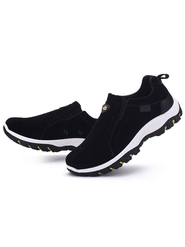 Breathable Suede Slip-On Men's Casual Shoes