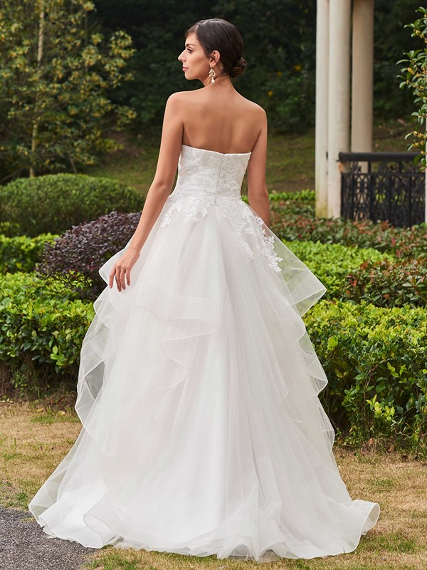 High Quality Appliques Sweetheart A Line Wedding Dress