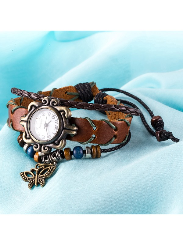 Butterfly Pendant Multilayer Bracelet Watch