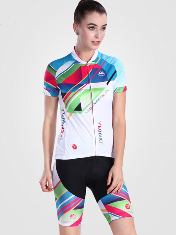 Lycra High Density Fasting Drying Short Sleeve Women Cycling Outfit