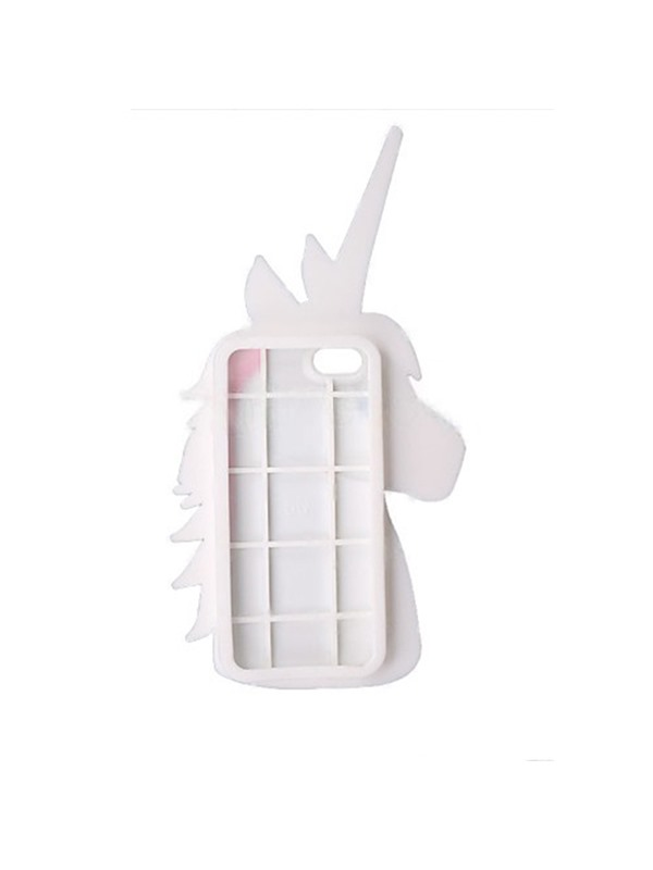 For iPhone 6S/6 Plus Back Cover 3D Unicorn Design Shockproof Protective Silicone Shell Back Cover